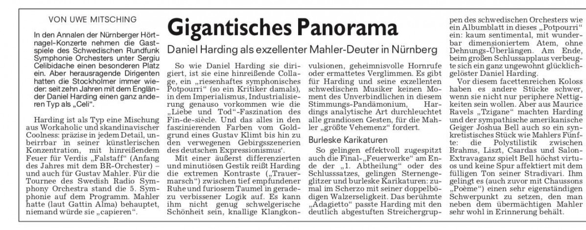Recension i Nürnberg Zeitung, Tyskland