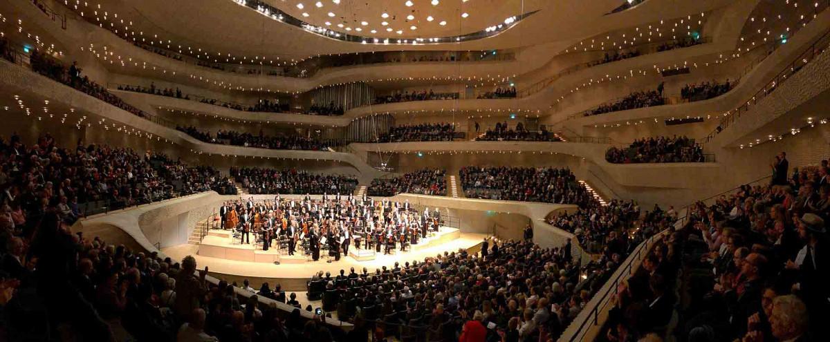 Sveriges Radios Symfoniorkester och Daniel Harding, Elbphilharmonie, Hamburg. Foto: Karl Thorson/Sveriges Radio.