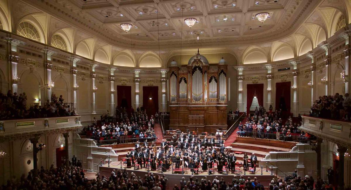 Sveriges Radios Symfoniorkester och Daniel Harding, Europaturné 2018, i Amsterdam, Concertgebouw. Foto: Karl Thorson/Sveriges Radio.